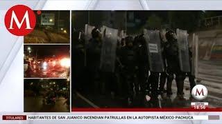 Vecinos de San Juanico lanzan piedras a la Policía Federal