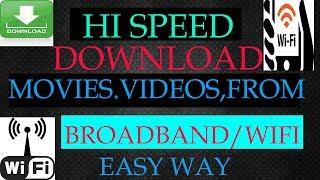 how to download high speed from broadband/wifi bangla tutorial tech bangla bd