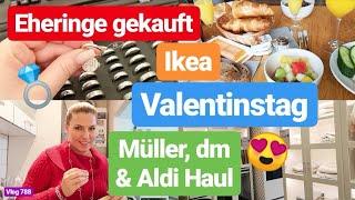 Wir haben unsere EHERINGE GEKAUFT! l Unser Valentinstag l Müller, dm, Food Haul l Vlog 788