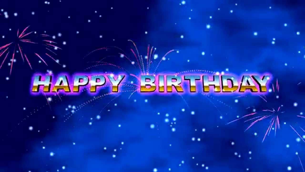happy birthday animation 4min