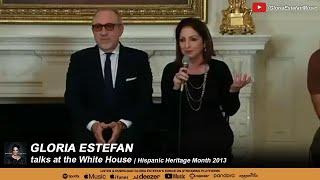 Gloria Estefan Talks At The White House Hispanic Heritage Month