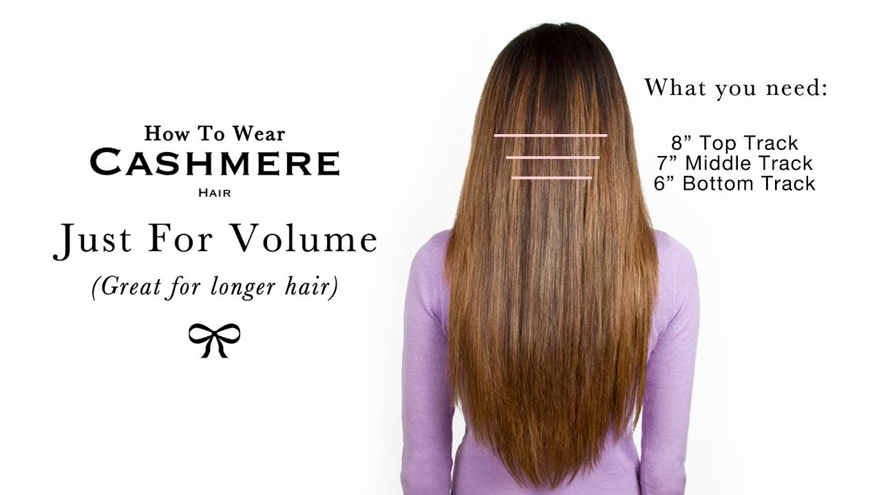 How To Wear Cashmere Hair For Volume YouTube