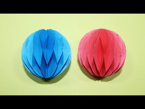 How To Make A Paper Honeycomb Ball - DIY Paper Honeycomb Tutorial