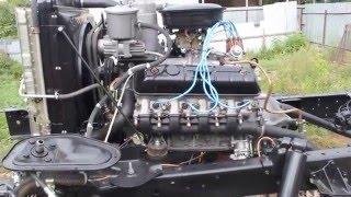 Обкатка двигателя ГАЗ-66  Шишига на холостых оборотах