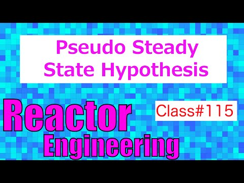 Pseudo Steady State Hypothesis in Reaction Mechanisms // Reactor Engineering - Class 115
