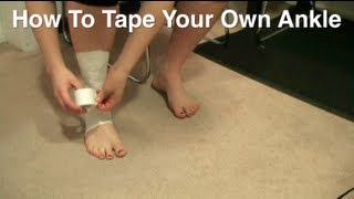 how to tape your own ankle