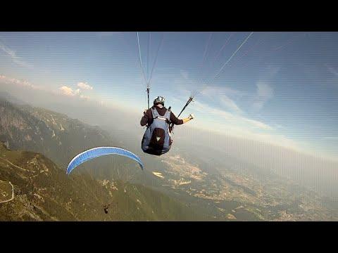 Paragliding-Fun In Bassano Del Grappa (Italy) - April 2015 Gleitschirmfliegen