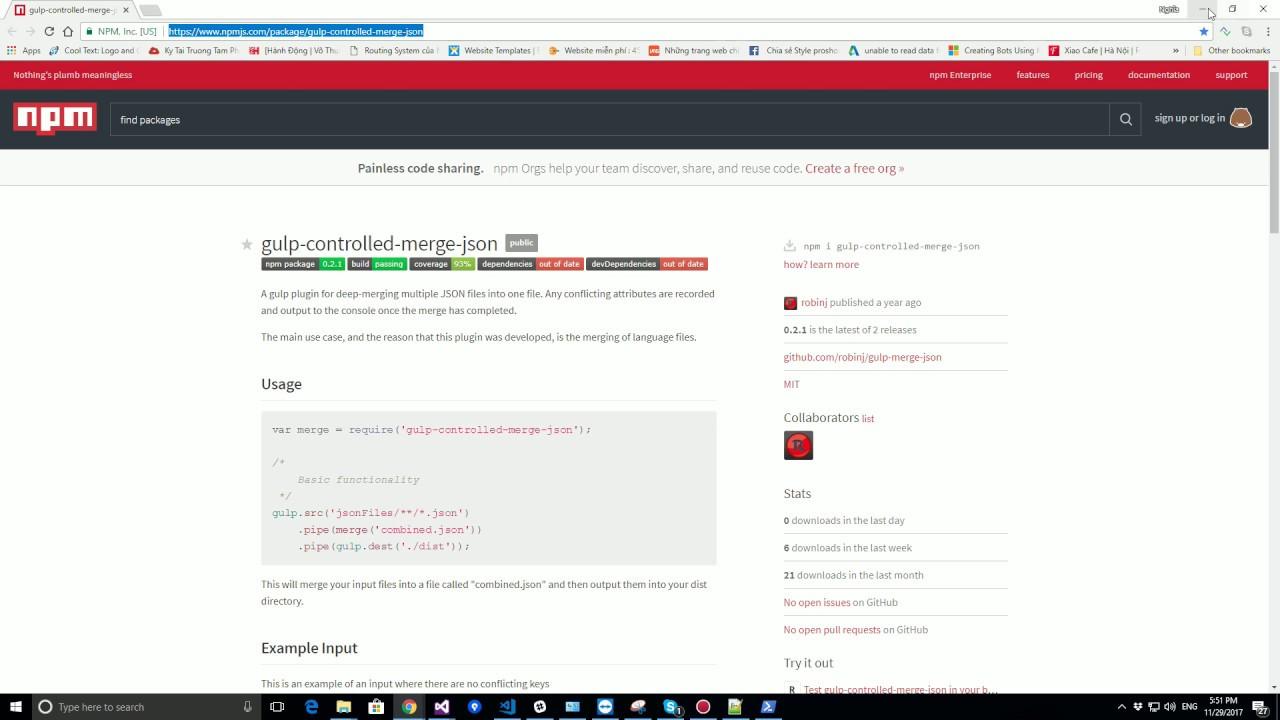 💎 [Gulp] Merge/Combine json files