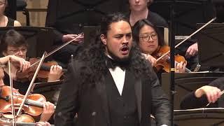 "Samson setu, bass baritone performs ""come dal ciel precipita"" from macbeth by verdi at the finals concert of 2019 ifac handa australian singing competiti..."