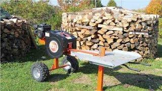 Amazing Log Splitter Hydraulic, Extreme Fast Wood Splitter Machine Homemade, Stihl Chainsaw #2