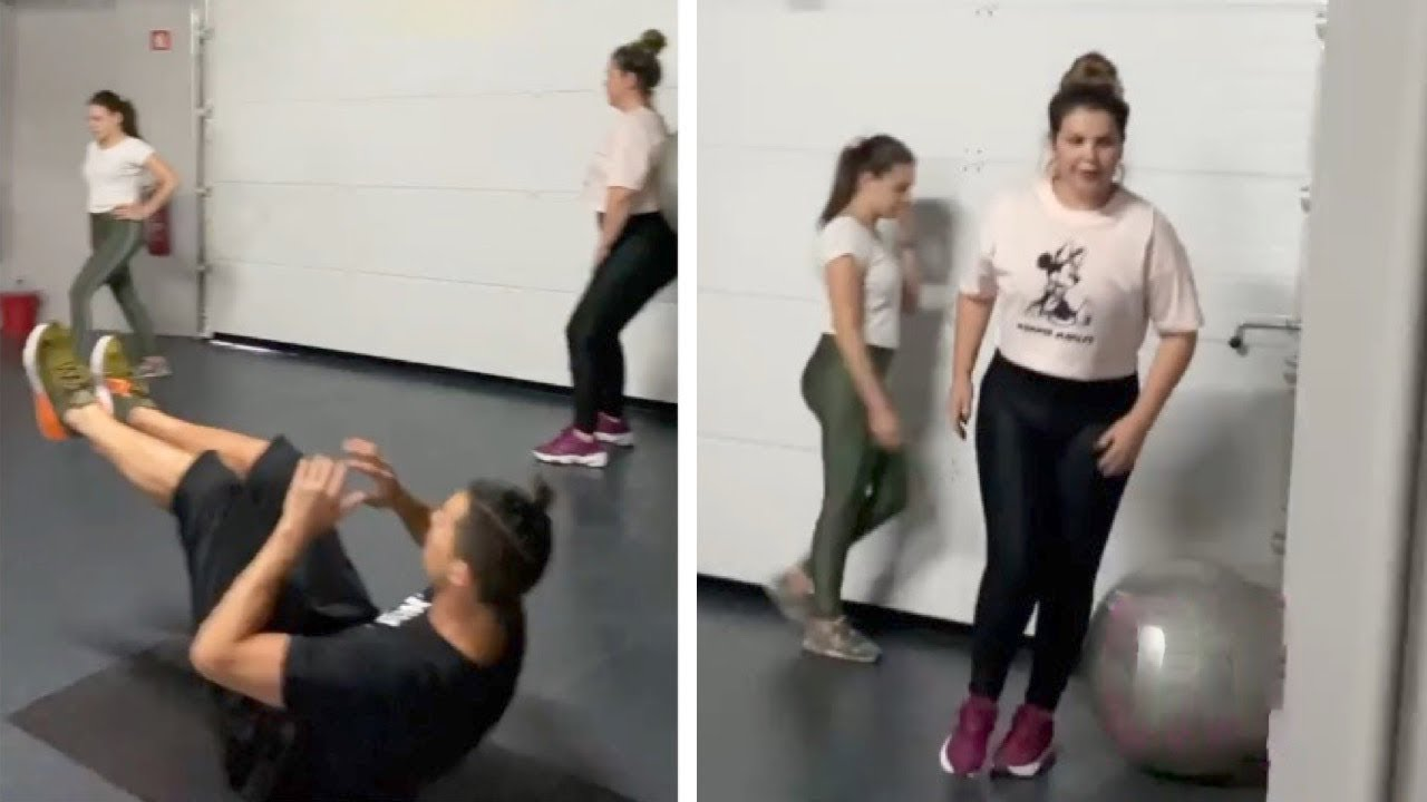 Cristiano Ronaldo Training With Sister And Home Staff During Quarantine Youtube