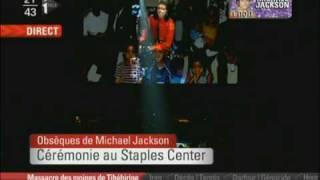 fin de la crmonie des obsques de michael jackson au staples center le 07 07 09