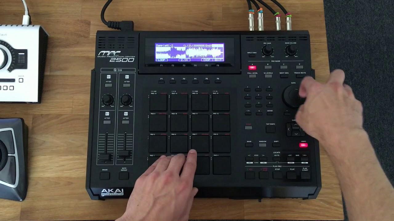 Akai MPC 2500 Demo Video - YouTube