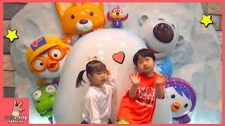 뽀로로 테마 파크 키즈카페 어린이 놀이 ♡ 뽀로로 우주선 비행기 관람차 장난감 놀이 잠실점 #1 Pororo Indoor Playground | 말이야와아이들 MariAndKids