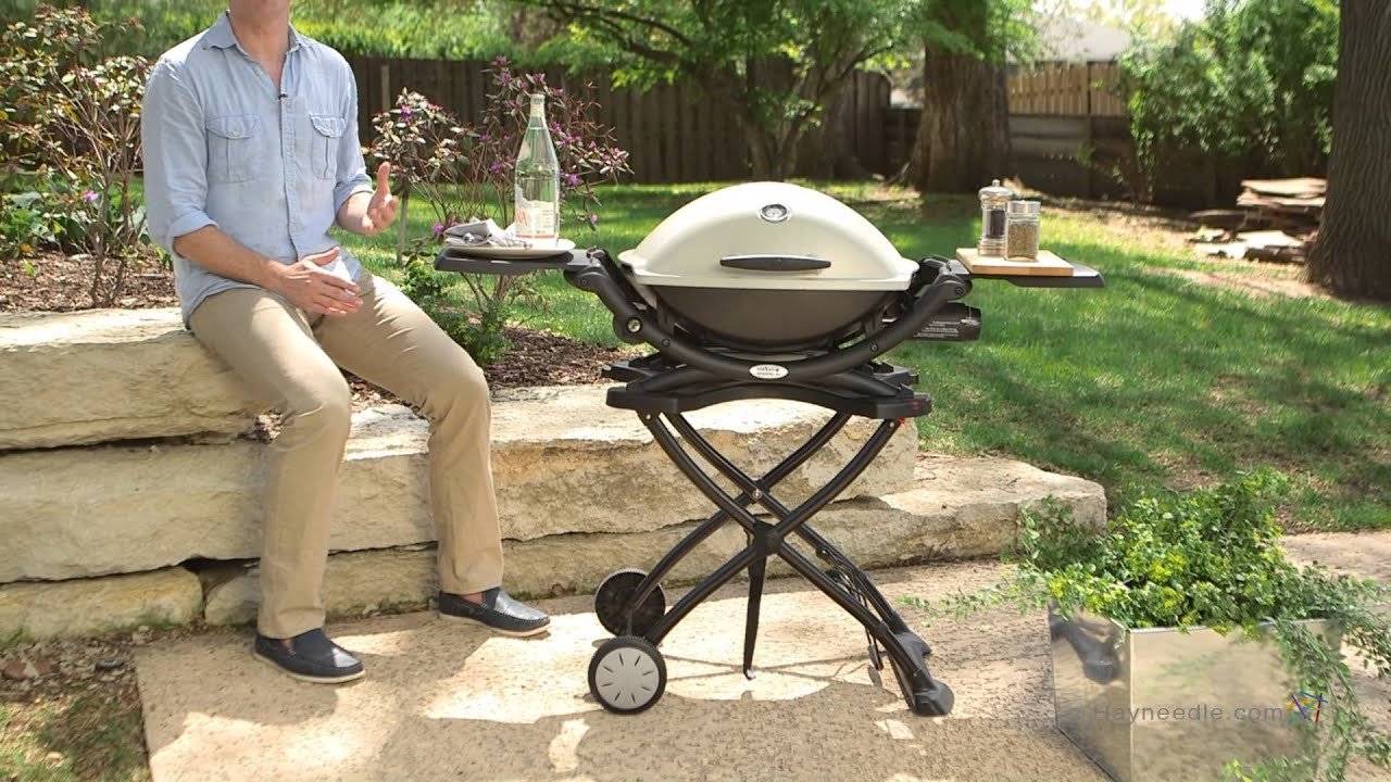 weber q portable cart product review video youtube. Black Bedroom Furniture Sets. Home Design Ideas