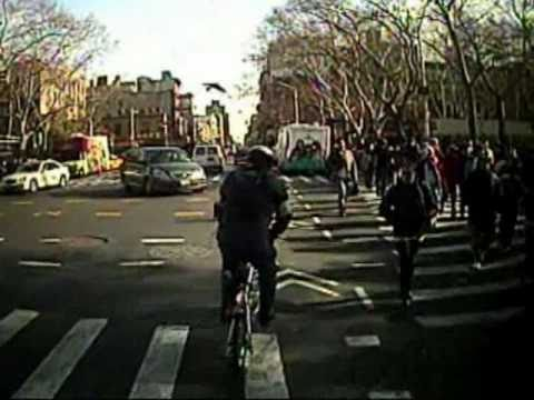 Bicycling on Grand Street, Manhattan, December 5, 2008