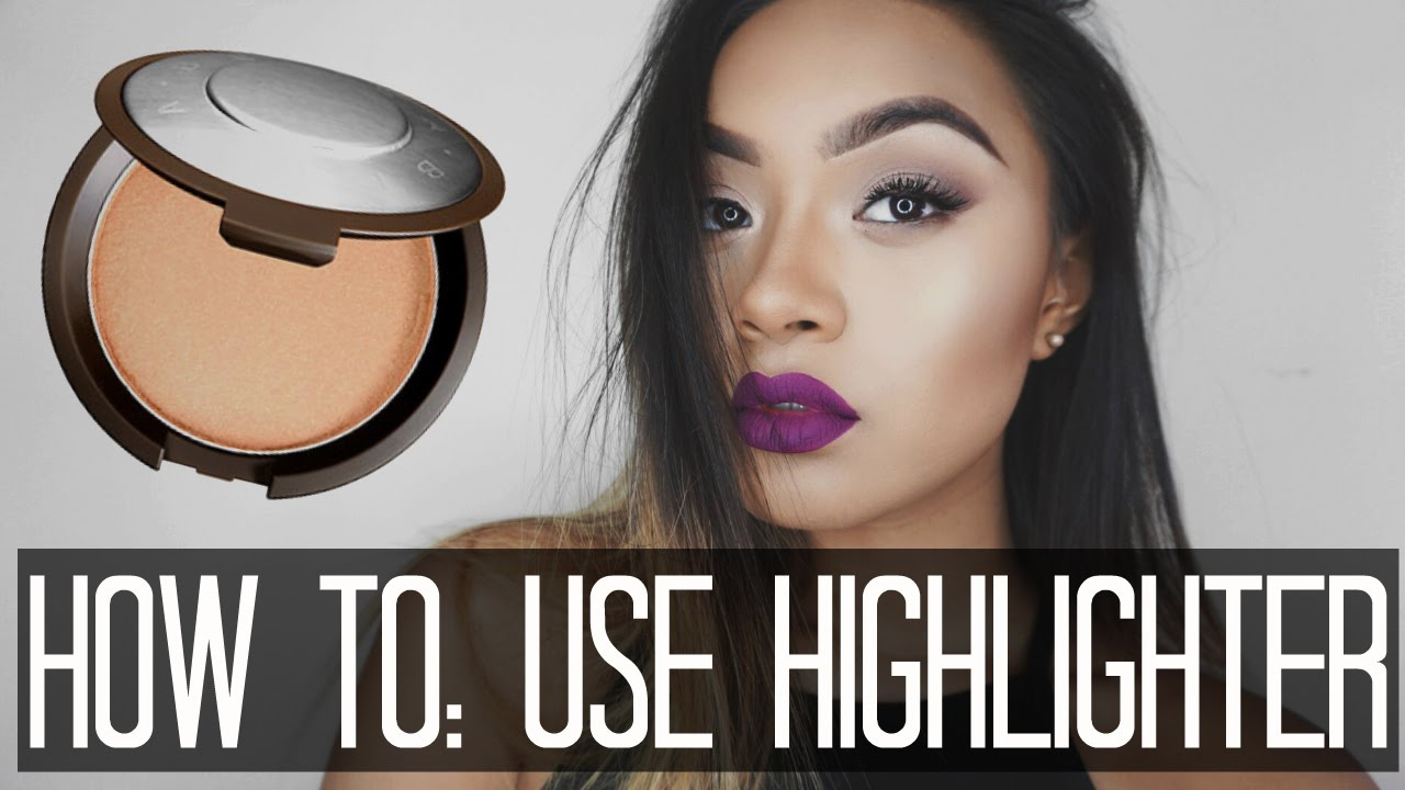 How to Apply Highlighter // Strobing makeup tutorial ♕ Mia ...