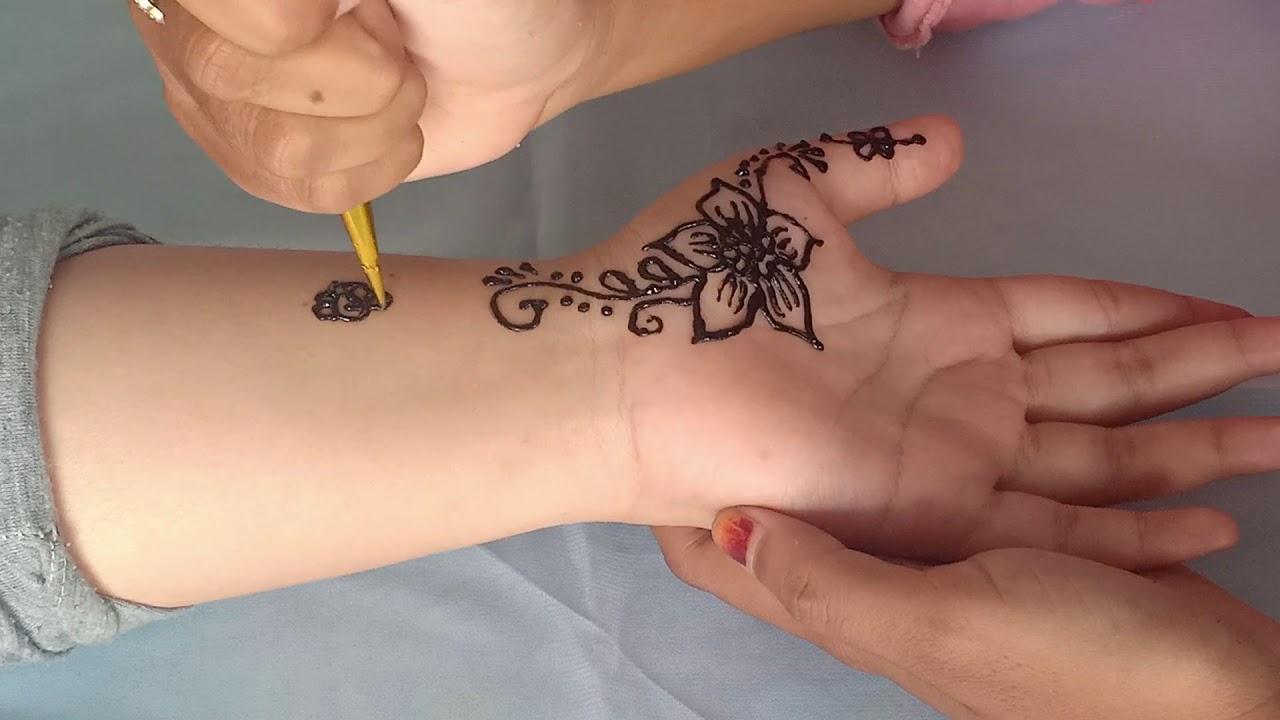 Cara Menggambar Henna Di Telapak Tangan Untuk Pengantin - YouTube