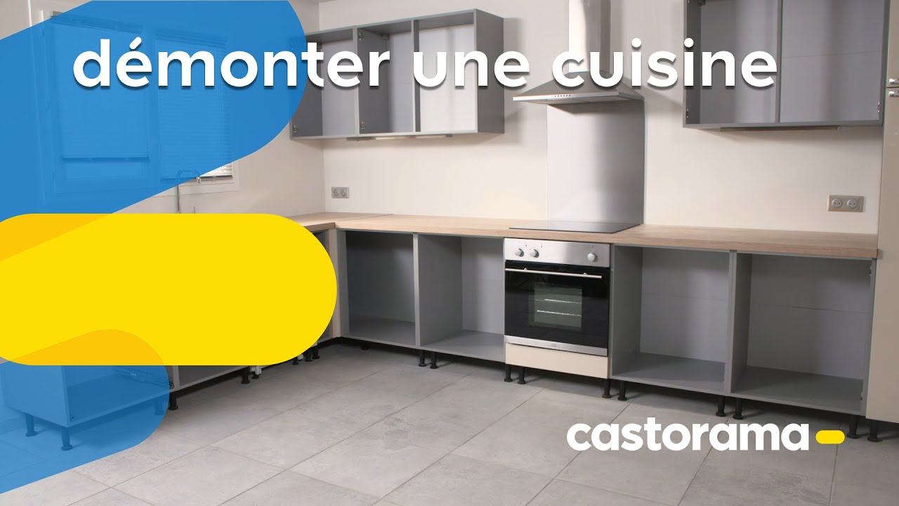 comment d monter une cuisine castorama youtube. Black Bedroom Furniture Sets. Home Design Ideas