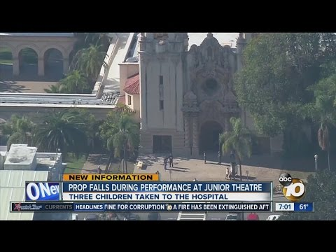 Prop falls during San Diego Junior Theatre performance
