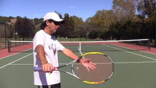 Tennis Tips: One-Handed Backhand - Swing Counter Weight