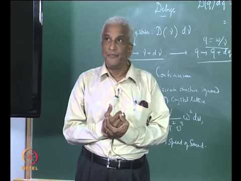 Mod-01 Lec-13 Debye Theory of Specific Heat, Lattice Vibrations