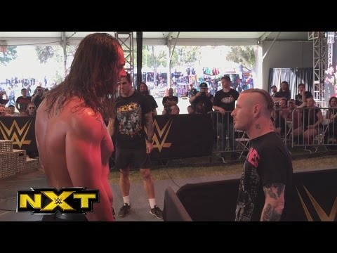 Slipknots Corey Taylor hits Baron Corbin at the NXT Aftershock Festival