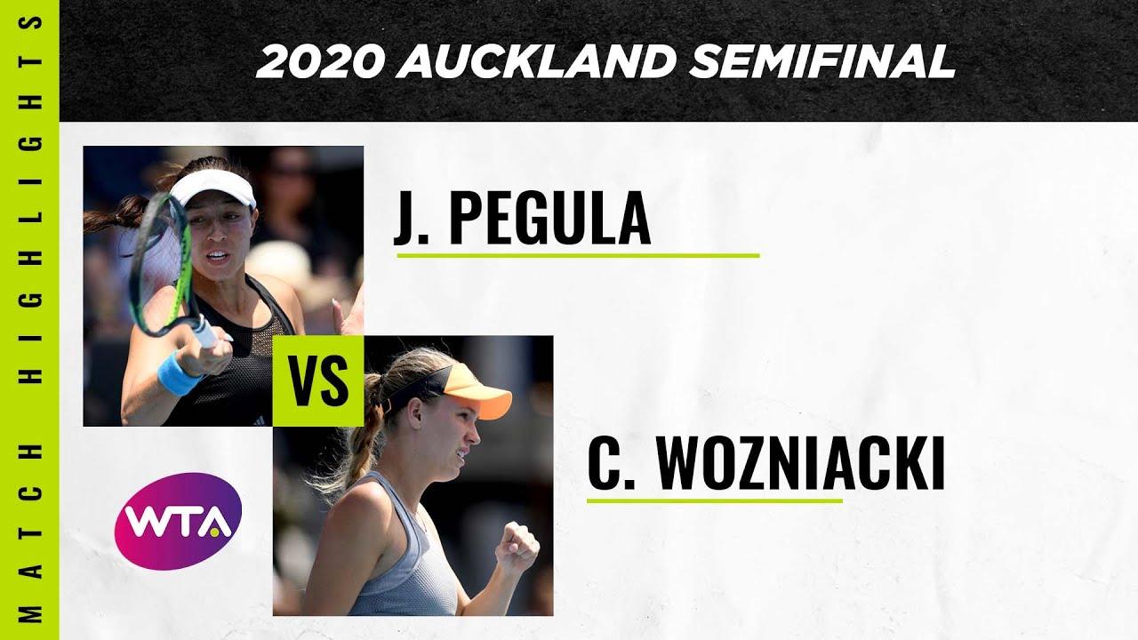 Jessica Pegula vs. Caroline Wozniacki | 2020 Auckland Open Semifinal | WTA Highlights