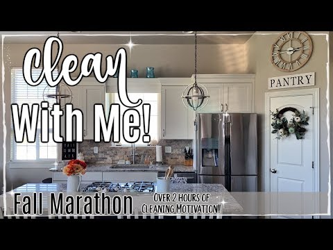 FALL CLEAN WITH ME MARATHON 2019 :: OVER 2 HOURS OF SPEED CLEANING MOTIVATION :: CLEANING ROUTINE
