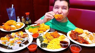Massive All You Can Eat Chinese Buffet • MUKBANG