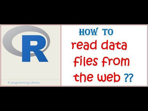 Reading web data in R || How to read csv data files directly from the web in R studio ??