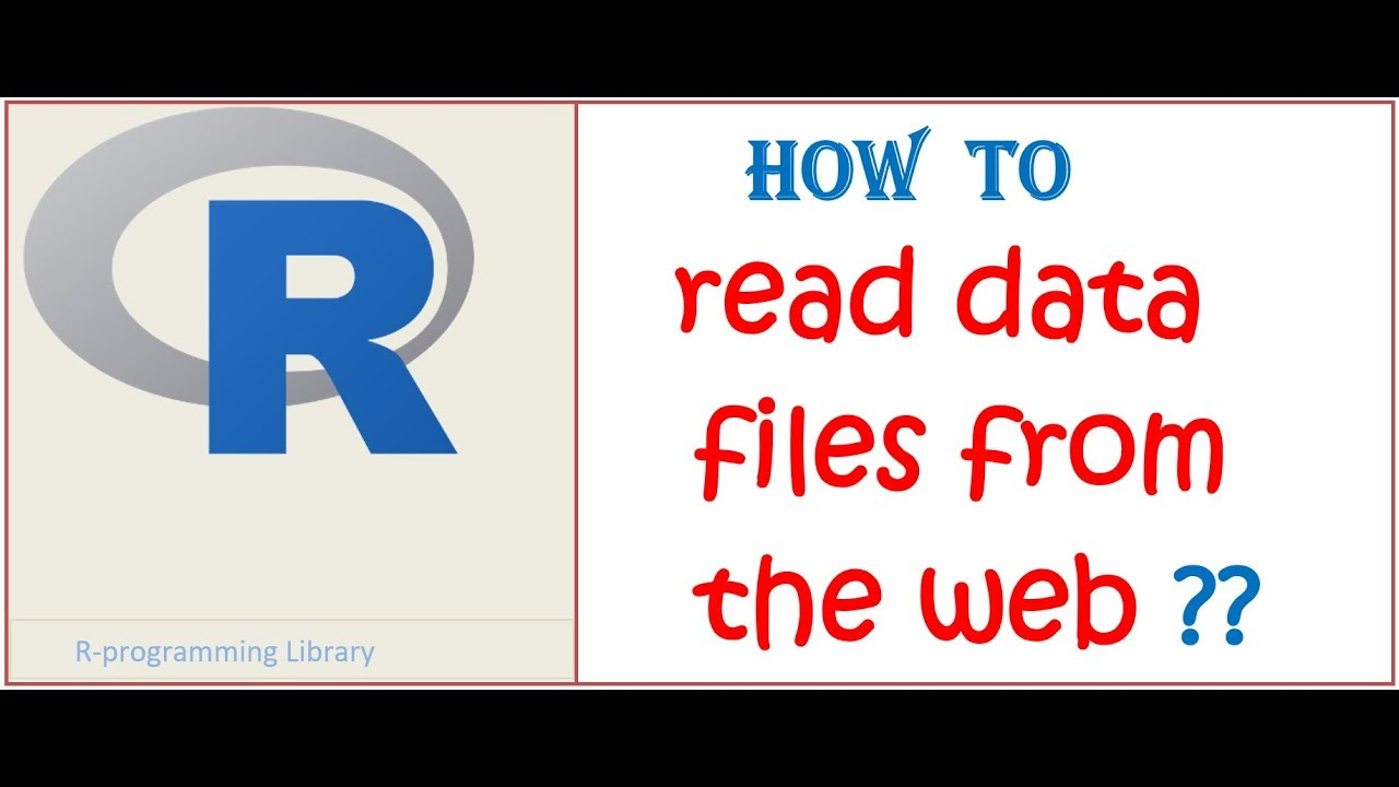 Reading web data in R || How to read csv data files directly from the web in R studio ?? - YouTube