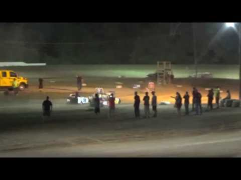 Mini Wedge Feature Race at Mount Pleasant Speedway 08-19-16.