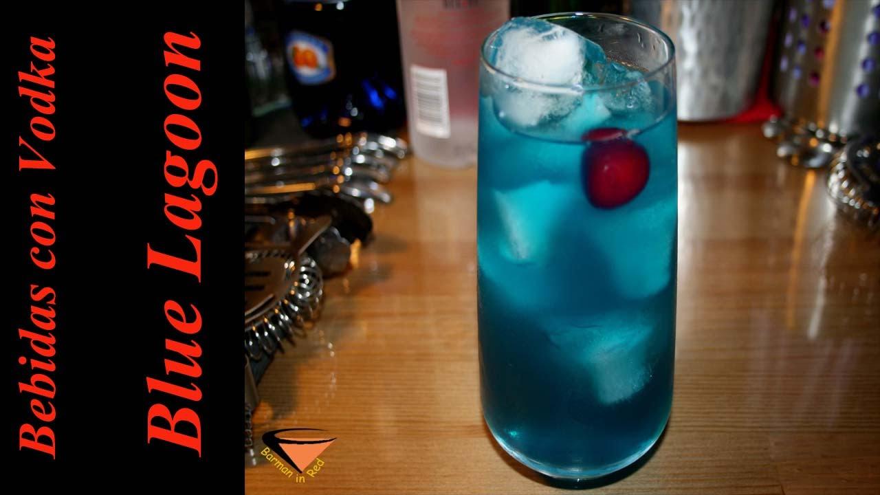 cómo preparar un cóctel BLUE LAGOON