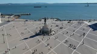Praca Do Comercio in Lisbon, Portugal by Drone