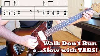 Walk Don't Run [guitar slow with tabs!]