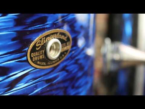 Columbus Percussion Vintage Corner: 1960s Slingerland, Blue Agate