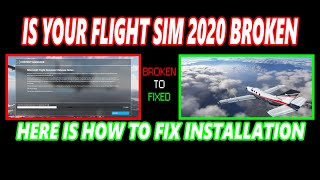 (2021 UPDATED)HOW TO FÏX FLIGHTSIM2020 INSTALL LOOP (FOLLOW INSTRUCTIONS IN DISCRIPTION BELOW)