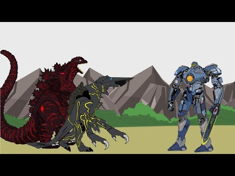 GODZILLA 2 King of the Monsters  SHIN GODZILLA  Kaiju vs Gipsy Danger Part 4