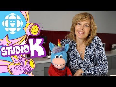 Gary the Unicorn Hugs Dianne Buckner  Hug Club  CBC Kids