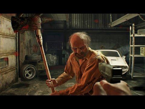 Resident Evil 7: Jack Baker Boss Fight (1st Encounter) (1080p 60fps)