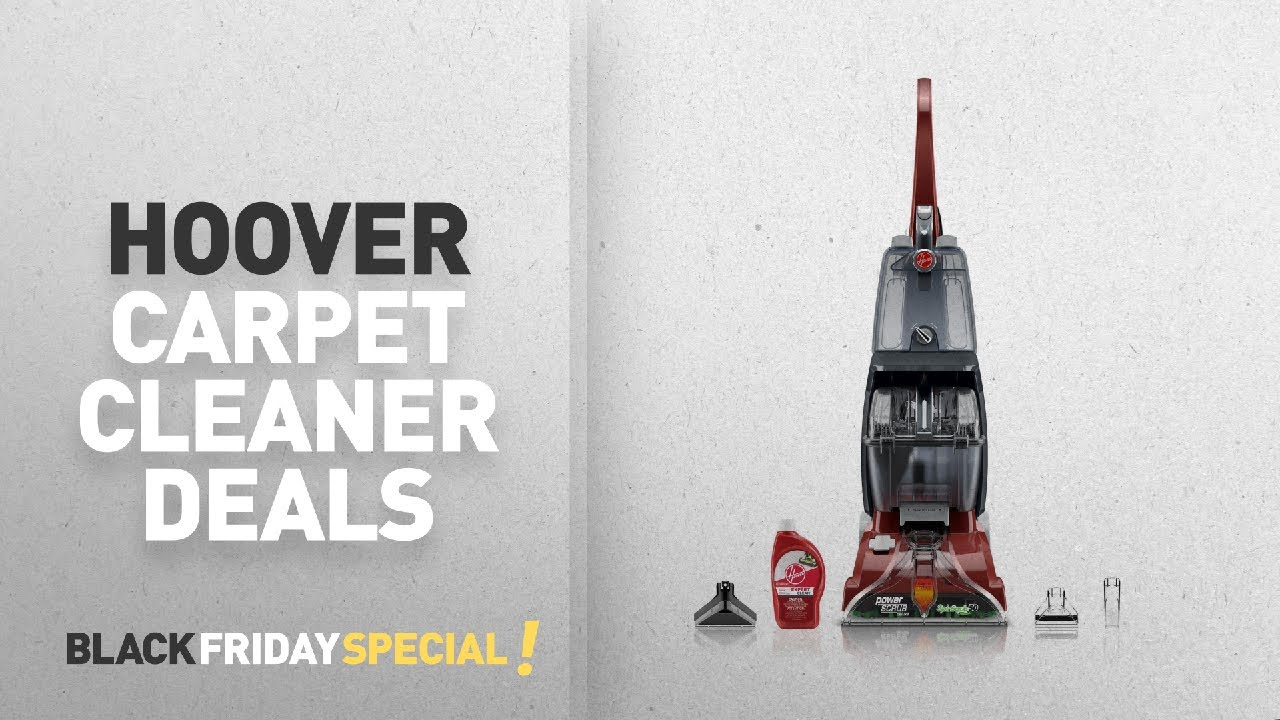 black friday hoover carpet cleaner deals hoover power scrub deluxe carpet washer fh50150 youtube. Black Bedroom Furniture Sets. Home Design Ideas