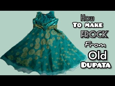 How To Make Frock From Old Dupata || Reuse Of Dupata || Fancy Frock