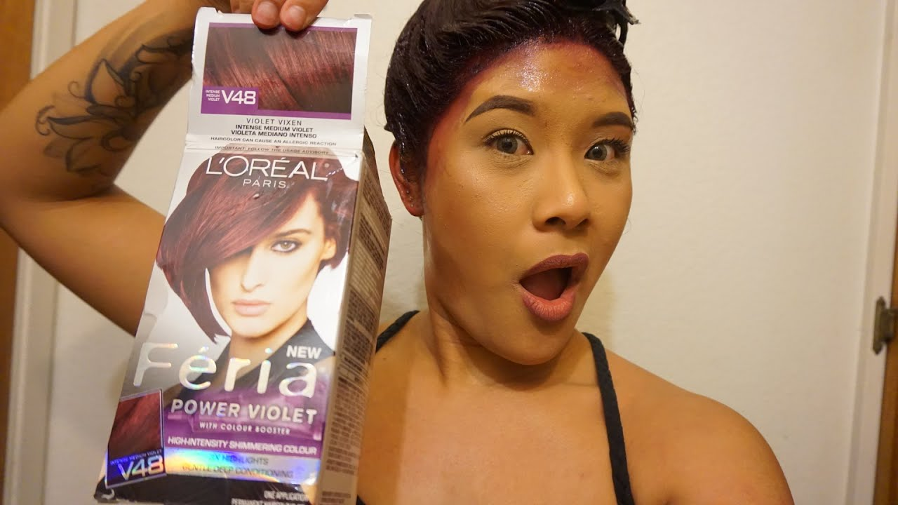 New Hair Color Loreal Feria V48 Violet Shereezyxo You