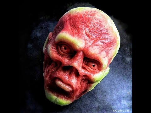 Red Skull - Best Watermelon Carving  - Scuruchi 💀🍉