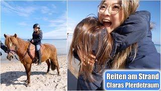 Clara reitet am Strand 😍 Pferde Mädchentraum wird wahr! Ostsee Familien Ausflug VLOG | Mamiseelen