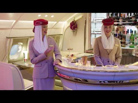Emirates Airline: Say hello to the New A380 Onboard Lounge
