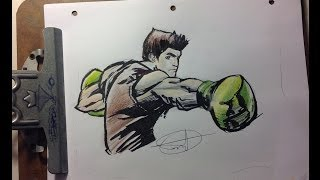 Little Mac from Super Smash Bros SPEED DRAWING