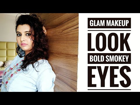 Glam Makeup Look || Bold Smokey Eyes || Party Makeup Look || Barsha Basu