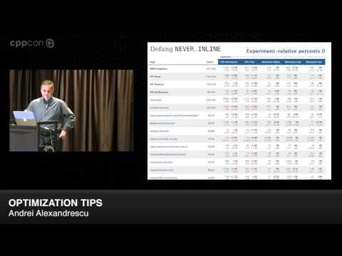 """CppCon 2014: Andrei Alexandrescu """"Optimization Tips - Mo' Hustle Mo' Problems"""""""
